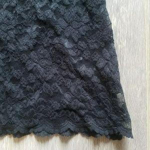 bebe Tops - Bebe Black Lace Short Sleeve Top